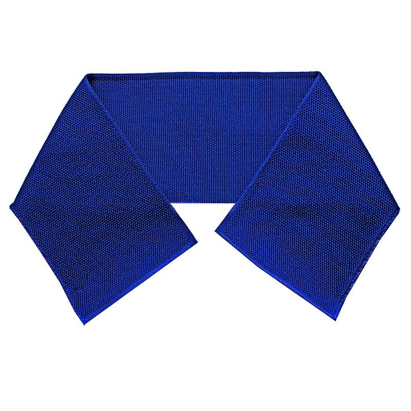 Воротник пике полиэстер 9*47см, цв:синий