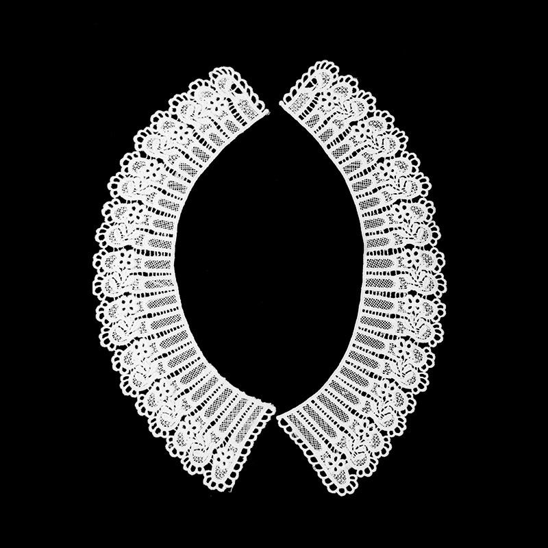 Воротник кружевной парный 29,5/41,5*5/8,5см, цв:белый