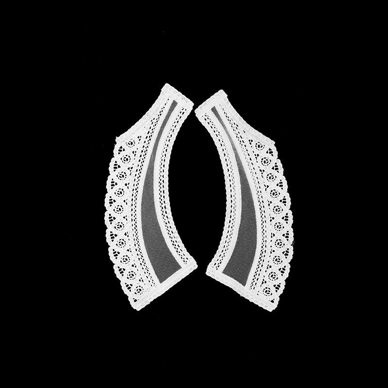 Воротник кружевной парный 20,5*4/9см, цв:белый