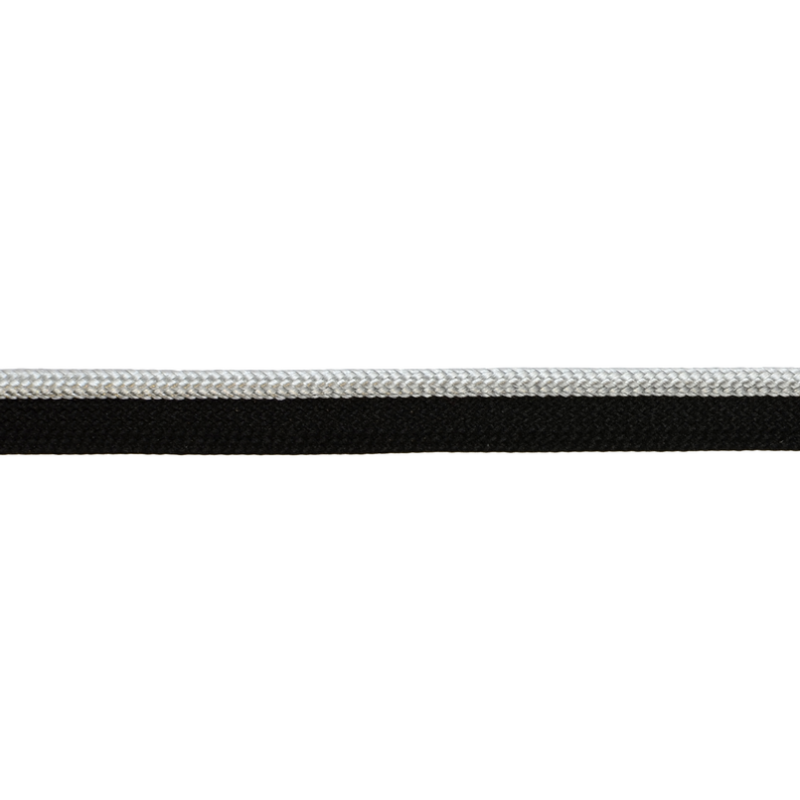 Кант 1см декоративный 43-45м/рул, цв: черный/серый