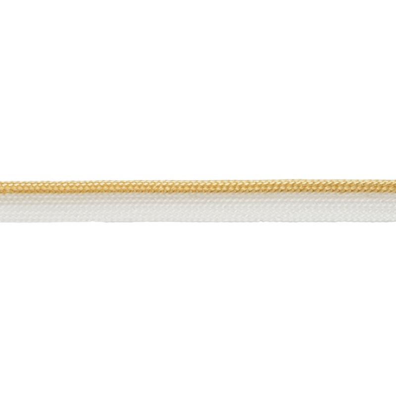 Кант 1см декоративный 43-45м/рул, цв: белый/бежевый