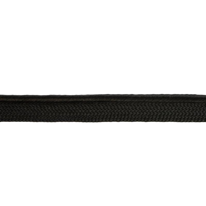 Кант 1см декоративный витой 43-45м/рул, цв: черный