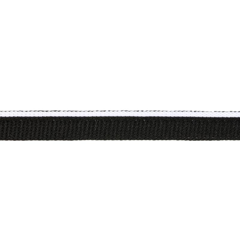 Кант 1см трикотажный 78-80м/рул, цв: черный/белый