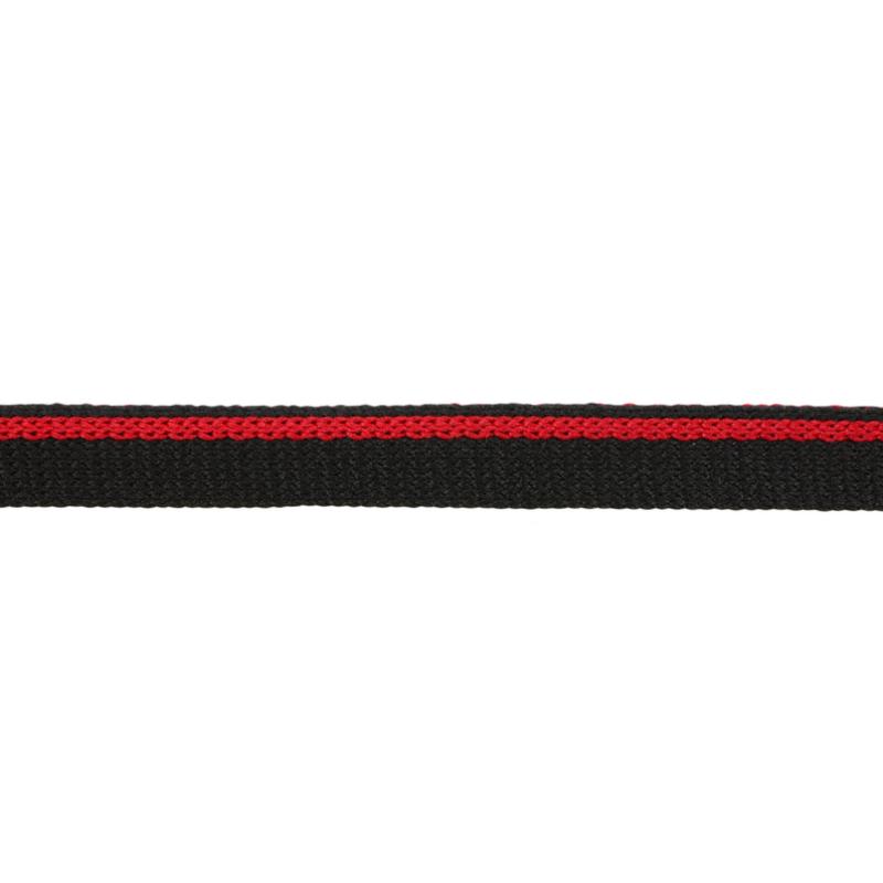 Кант 1см трикотажный 78-80м/рул, цв: черный/красный