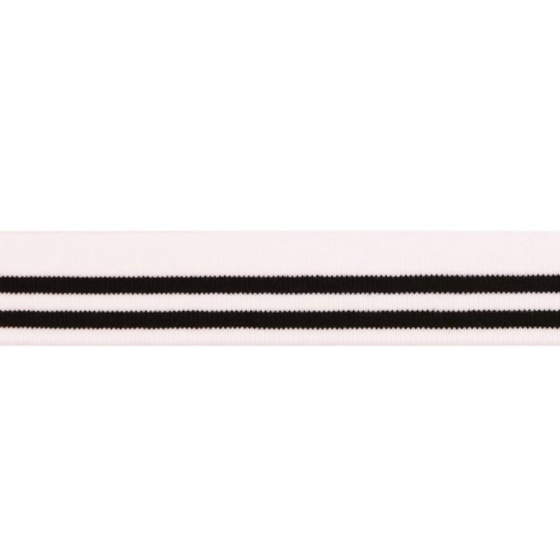 Подвяз акрил 3,5*120см, цв: белый/черный