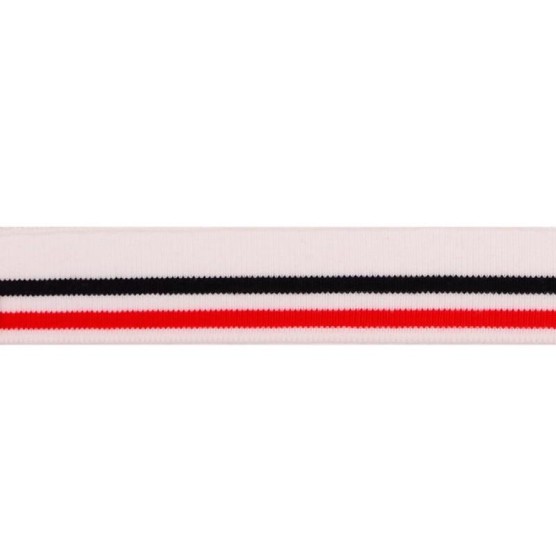 Подвяз акрил 3,5*120см, цв: белый/т.синий/красный