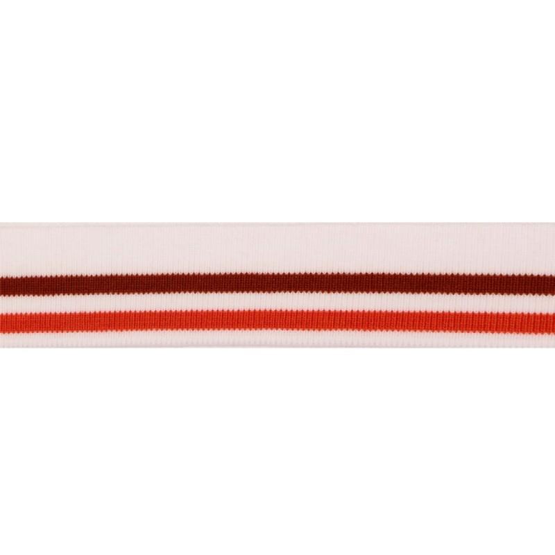 Подвяз акрил 3,5*120см, цв: белый/охра/коричневый