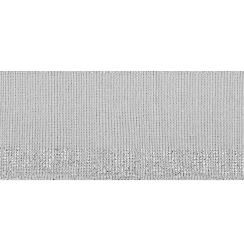Подвяз 1*1 акрил с люрекс 5*100см, цв:св.серый/люрекс серебро