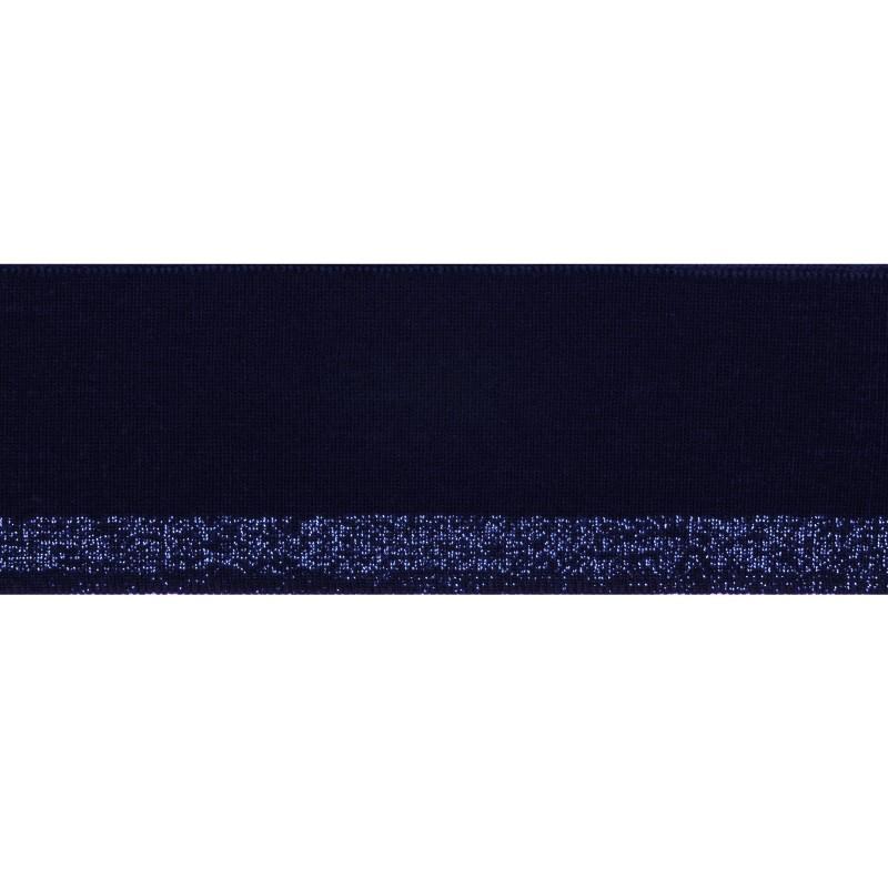 Подвяз 1*1 акрил с люрекс 5*100см, цв:т.синий/люрекс синий