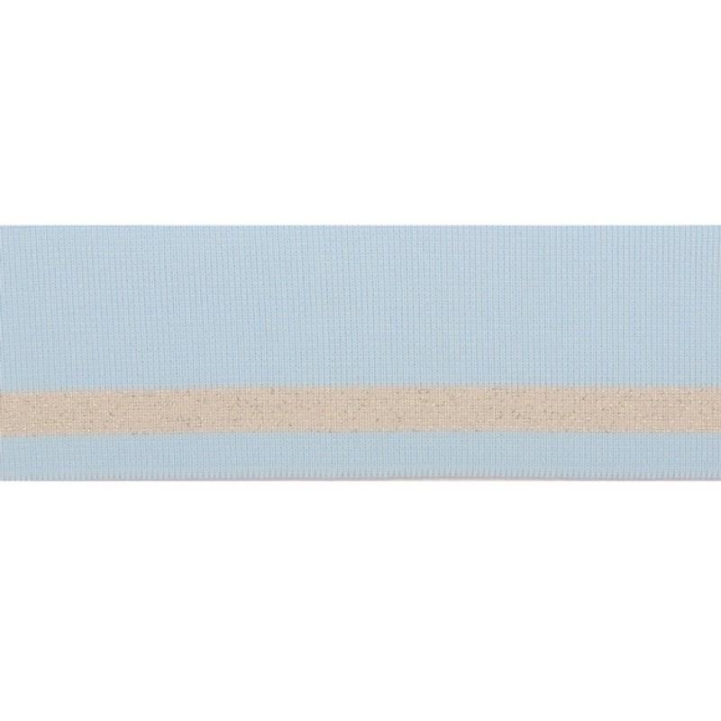 Подвяз 1*1 полиэстер 5,5*100см, цв:св.голубой/люрекс серебро