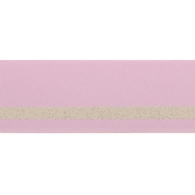 Подвяз 1*1 полиэстер 5,5*100см, цв:сиреневый/люрекс серебро