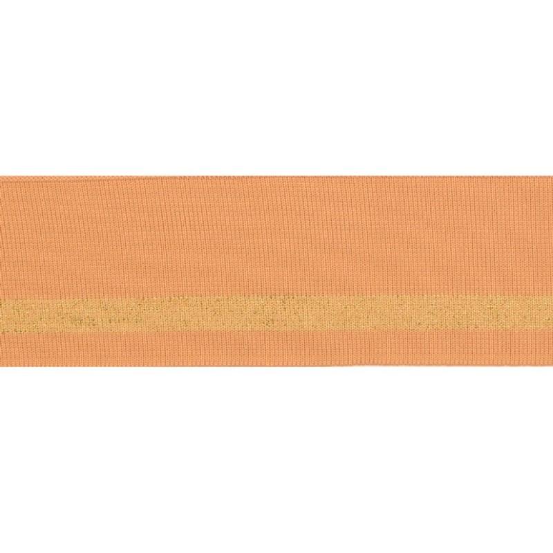 Подвяз 1*1 полиэстер 5,5*100см, цв:бежевый/люрекс золото
