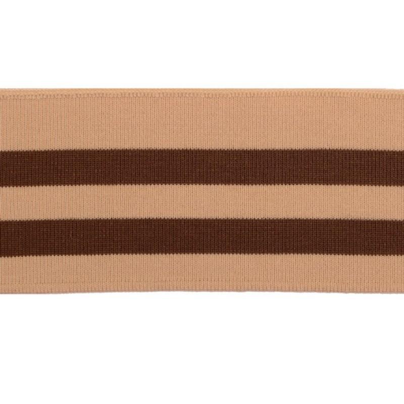 Подвяз 1*1 акрил 7*100см, цв:св.бежевый/коричневый