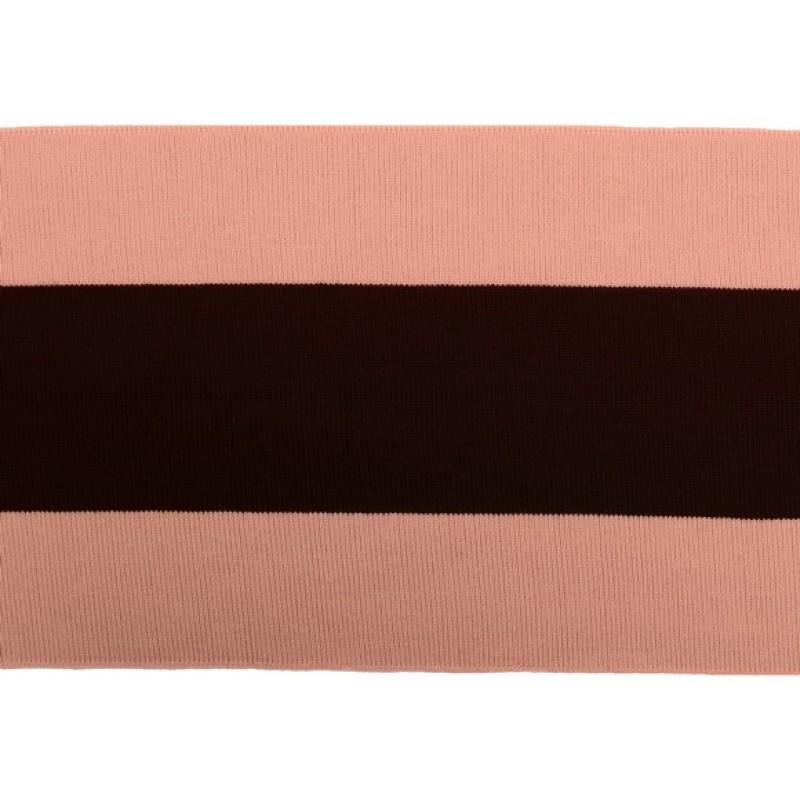 Подвяз 1*1 акрил 14*100см, цв:св.розовый/коричневый