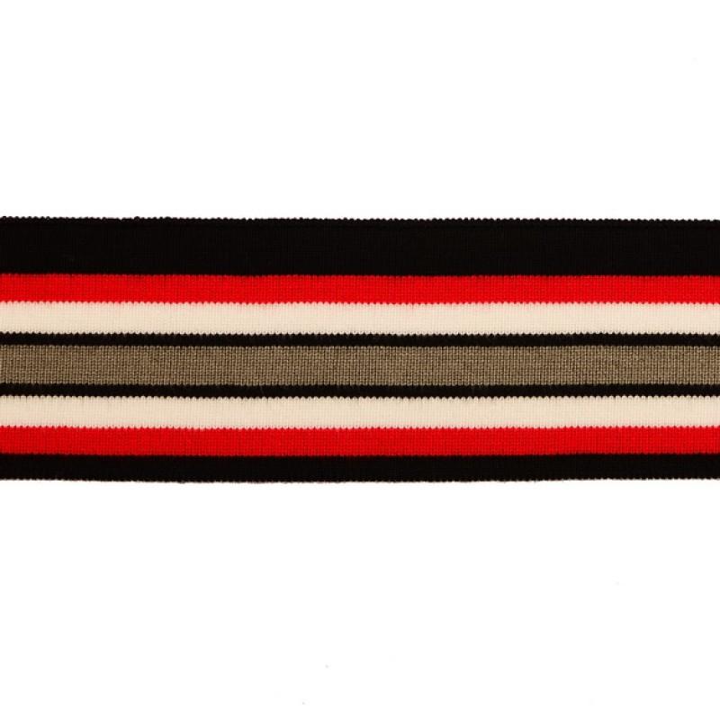 Подвяз 1*1 вискоза 5*100см , цв:черный/красный/белый/серый
