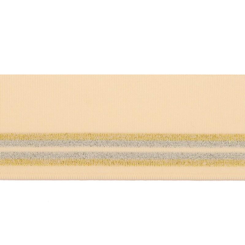 Подвяз 1*1 акрил/люрекс 6*100см, цв: бежевый/люрекс серебро/люрекс золото