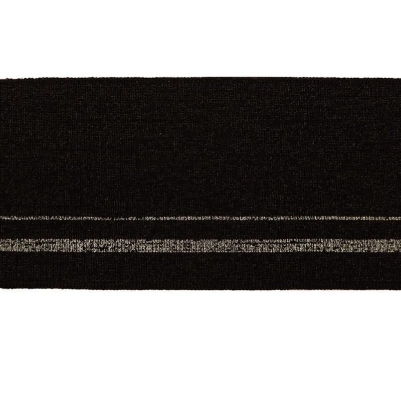 Подвяз вискоза 8*120см,цв:черный/люрекс черный/люрекс серебро