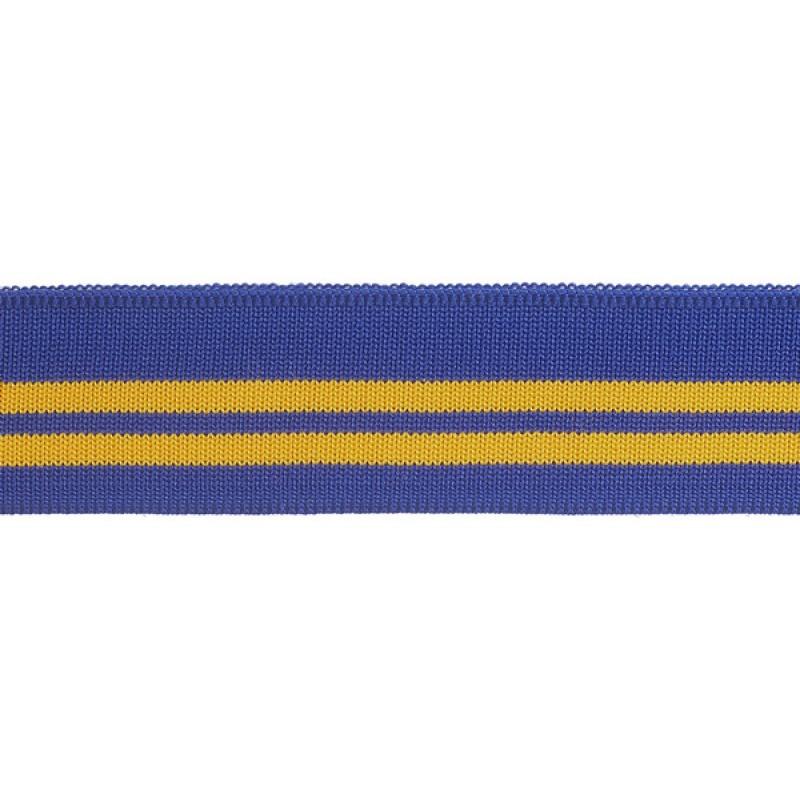 SALE Подвяз 1*1 полиэстер 4,5*110см, цв:синий/желтый