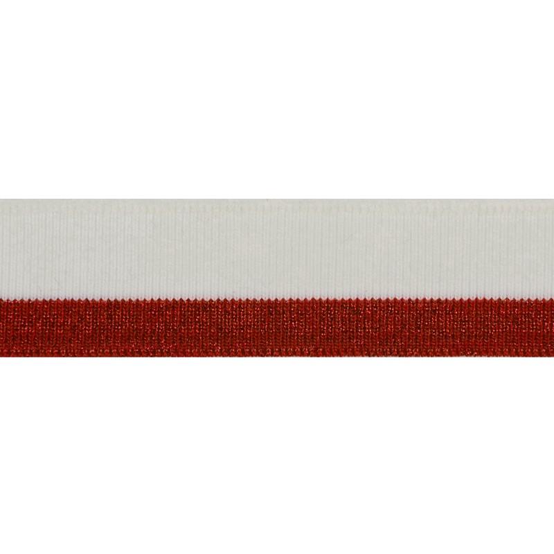 Подвяз акрил с люрексом 1*1 , 3*100см, цв: белый/красный