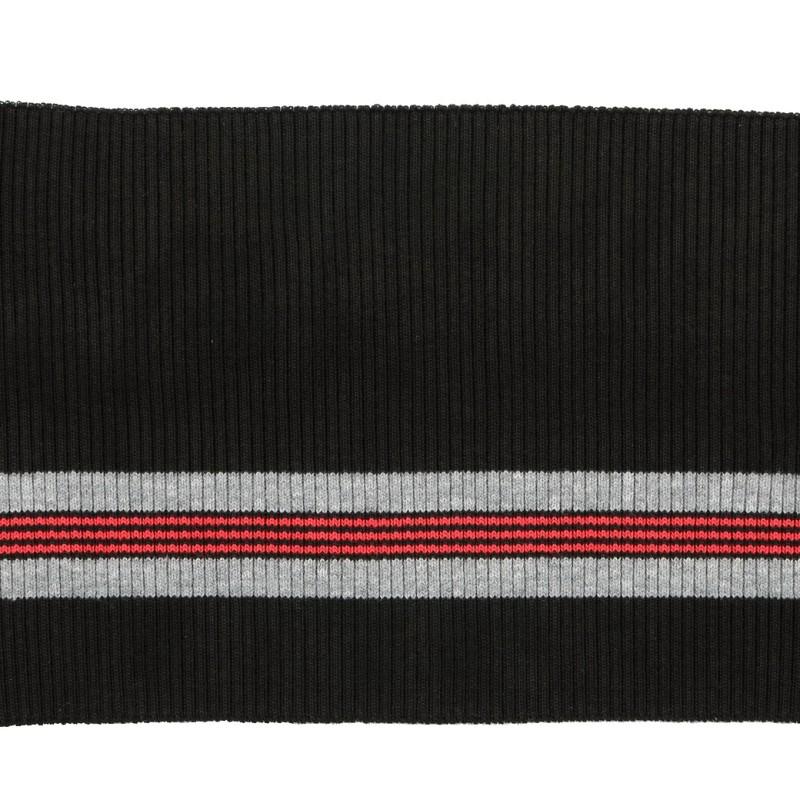 Подвяз 2*2 полиэстер 15*85см, цв:т.серый/серый/красный