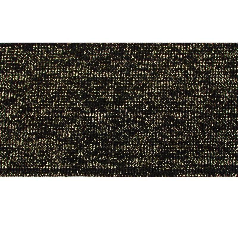 SALE Подвяз 1*1 акрил/люрекс 6(6,5)*100см, цв:черный/люрекс золото
