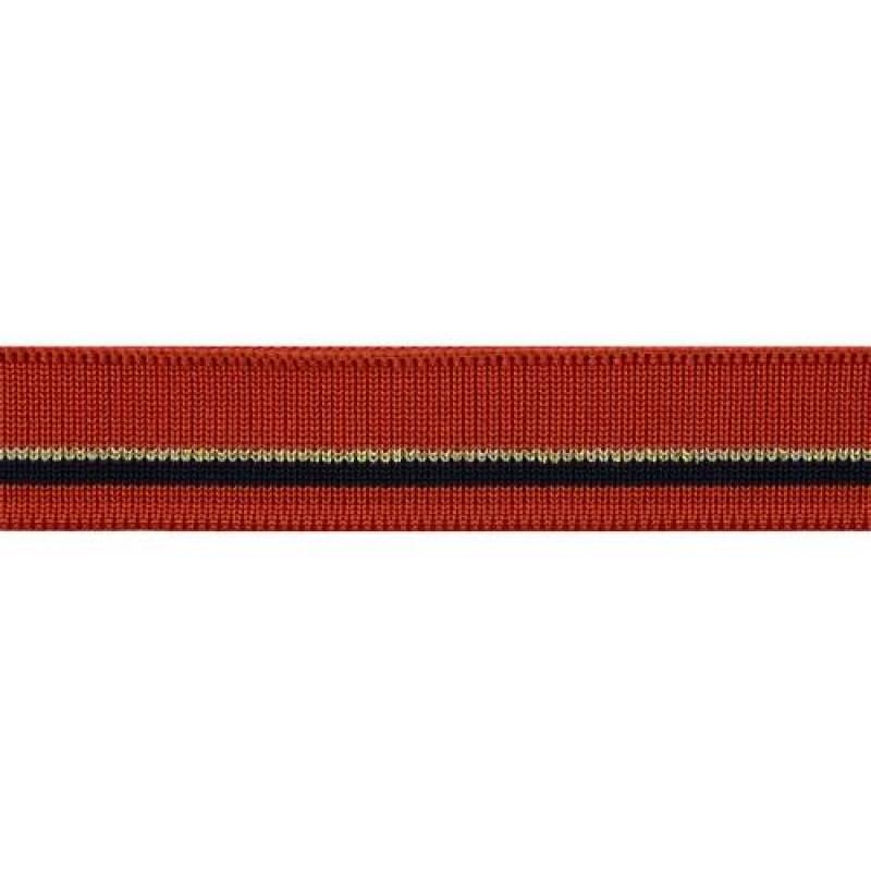 Подвяз из полиэстера с люрексом, переплетение 1*1, трехцветный