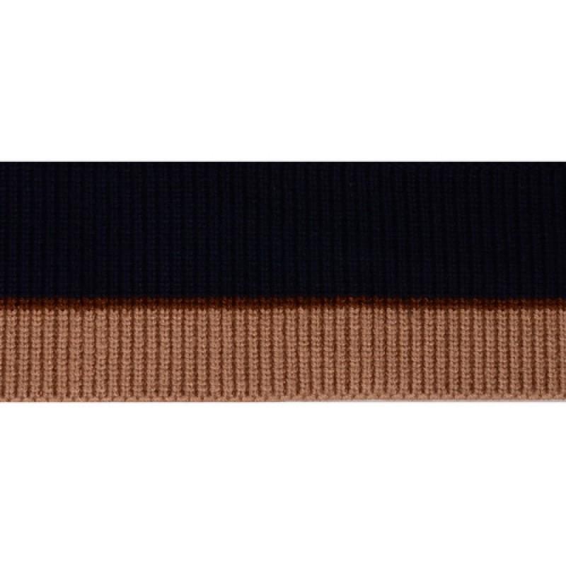 SALE Подвяз 1*1 акрил/ангора 6*90см, цв: синий/бежевый/коричневый