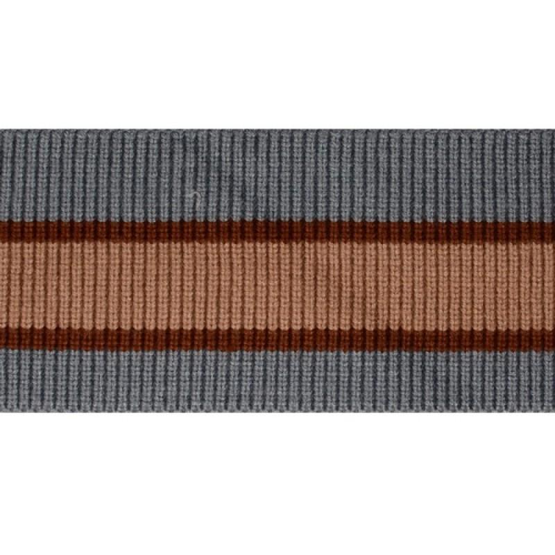 Подвяз 1*1 акрил/ангора 8*83см, цв:голубой/коричневый/бежевый