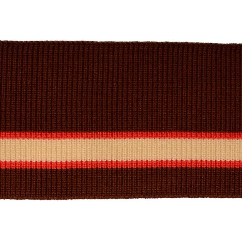 Подвяз 1*1 акрил/ангора 9*75см, цв:коричневый/оранжевый/молочный