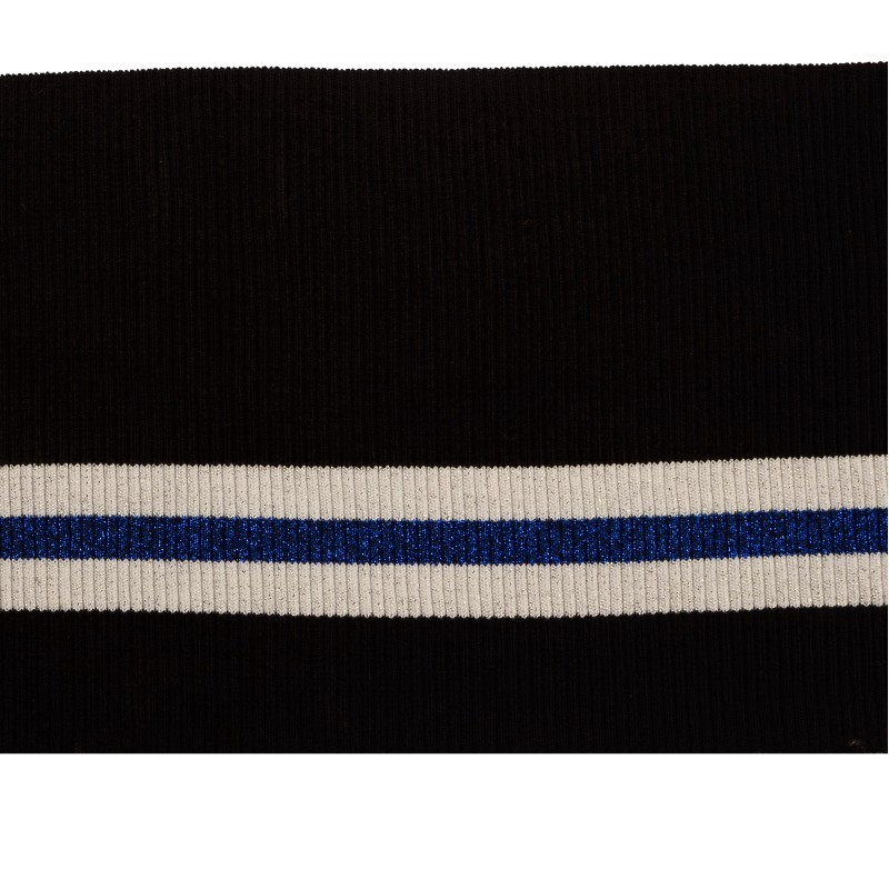 SALE Подвяз акрил с люрексом, размер: 15*72см, цвет: черный/белый/синий с люрексом