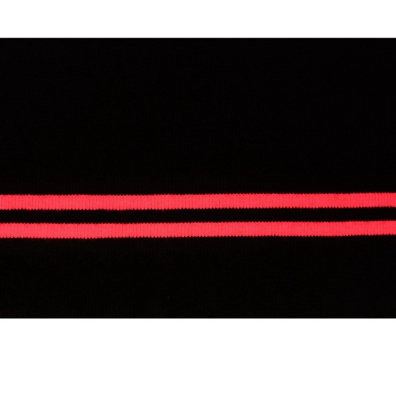 Подвяз акрил 11*120см, цв: черный/розовый неон