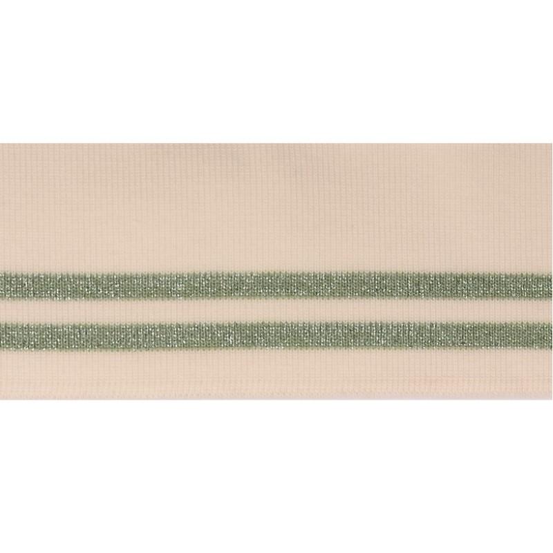 Подвяз 1*1 акрил 5,5*100см, цв:белый/полынь/люрекс серебро