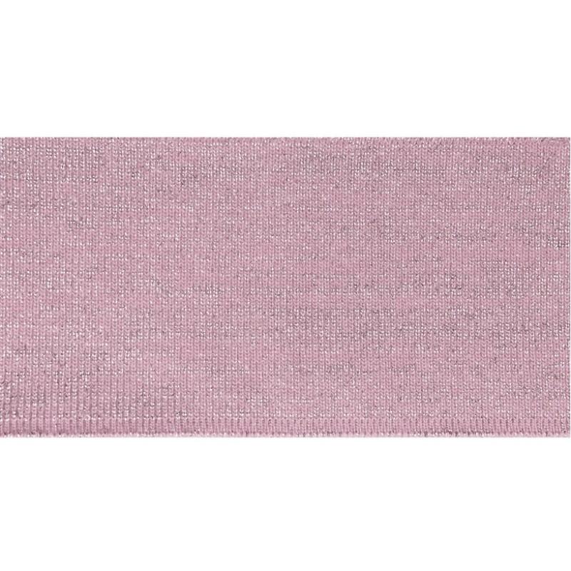 Подвяз 1*1 акрил 6*100см, цв:розовый/люрекс серебро