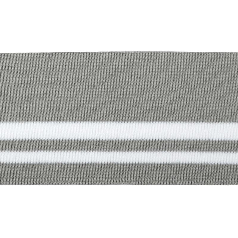 Подвяз 1*1 акрил 6*120см, цв:св.серый/белый