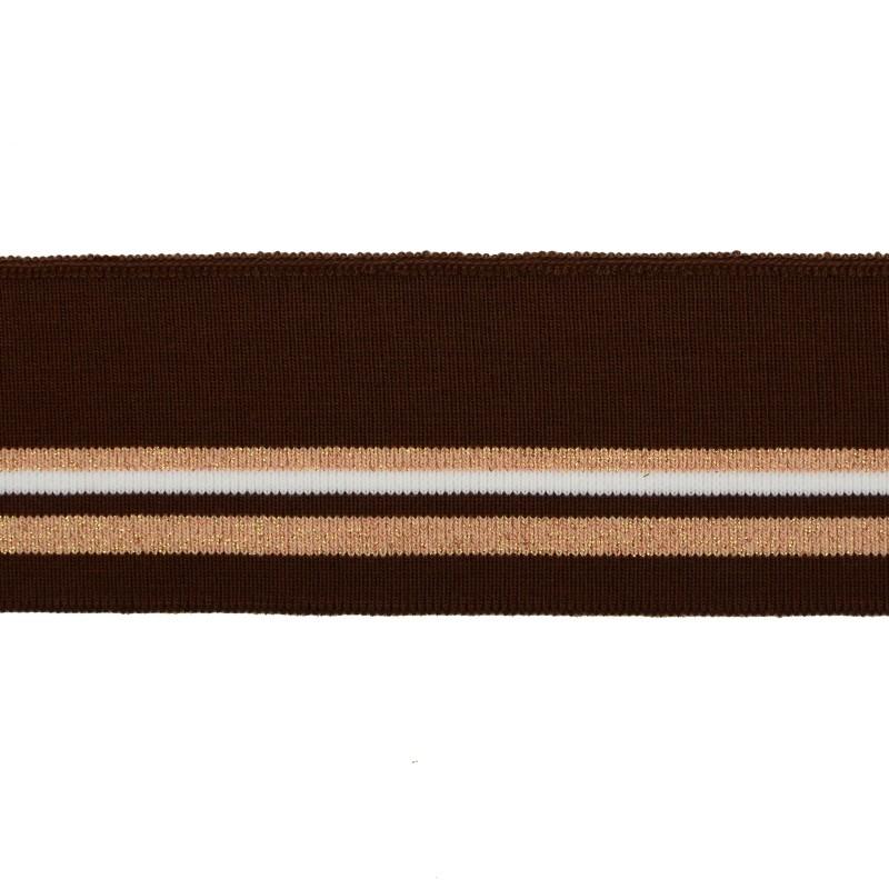 Подвяз 1*1акрил 6*120см, цв:коричневый/белый/св.розовый/люрекс медный