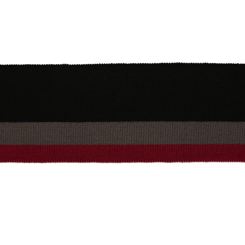 Подвяз 1*1 акрил 6*120см, цв:черный/серый/ягодный