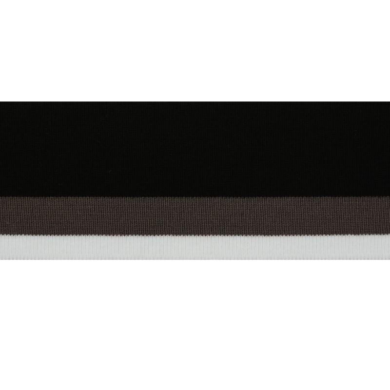 Подвяз 1*1 акрил 6*120см, цв:черный/серый/белый