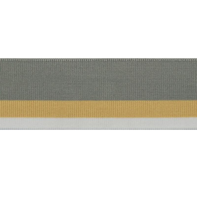 Подвяз 1*1 акрил 6*120см, цв:серый/бежевый/белый