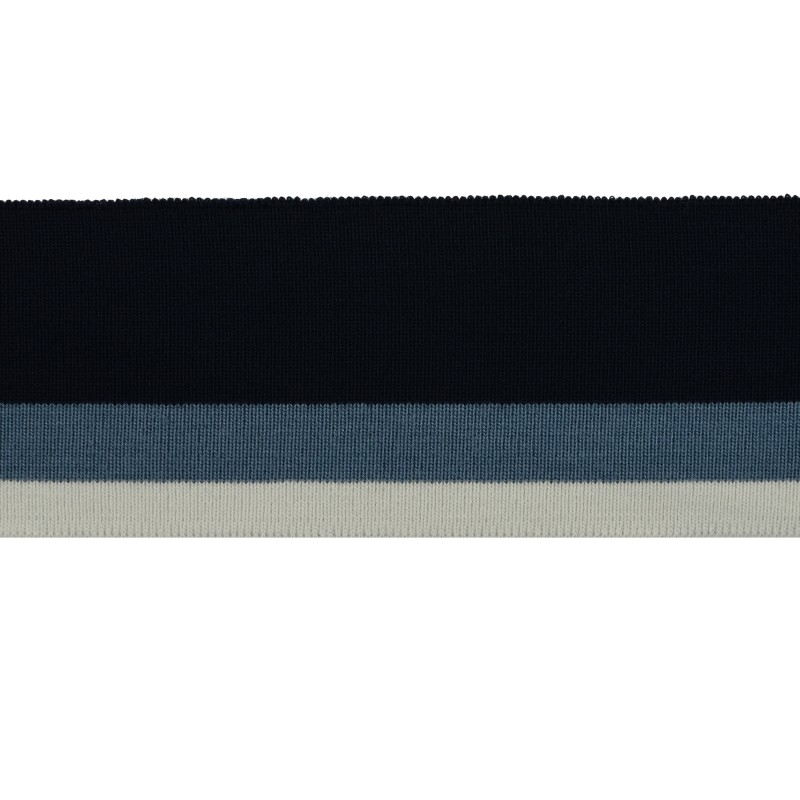 Подвяз 1*1 акрил 6*120см, цв:т.синий/джинса/св.серый