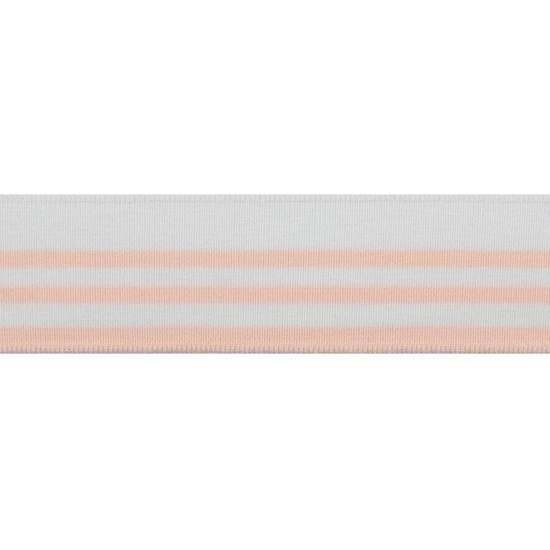 Подвяз 1*1 вискоза 4,5*100см, цв:белый/розовый