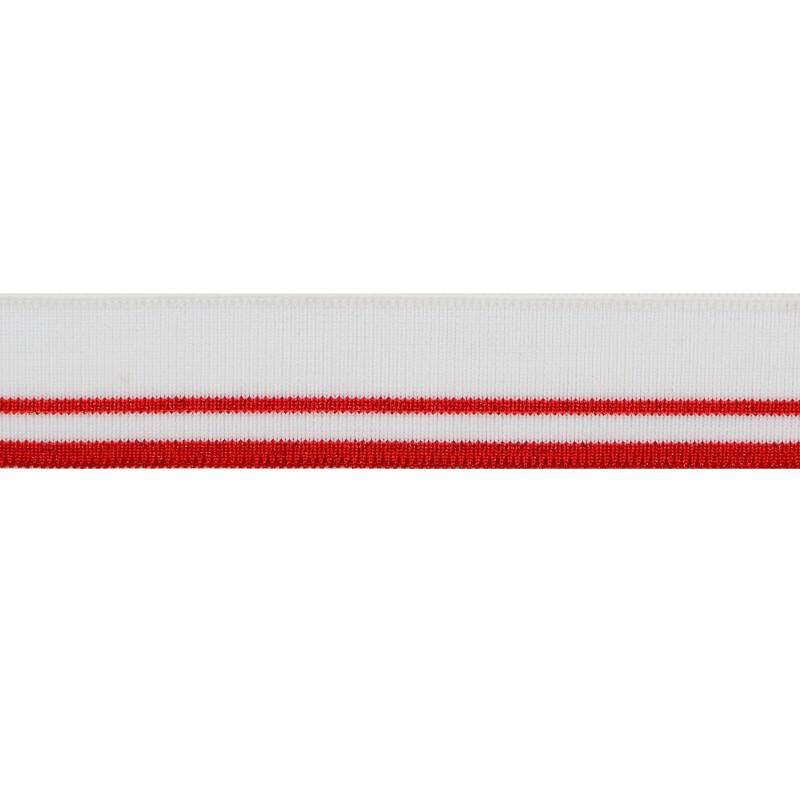 Подвяз полиэстер 3*120см, цв:красный/белый/люрекс красный