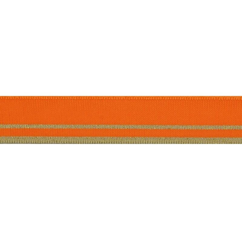 Подвяз полиэстер 3*120см, цв:манго/св.бежевый/люрекс золото