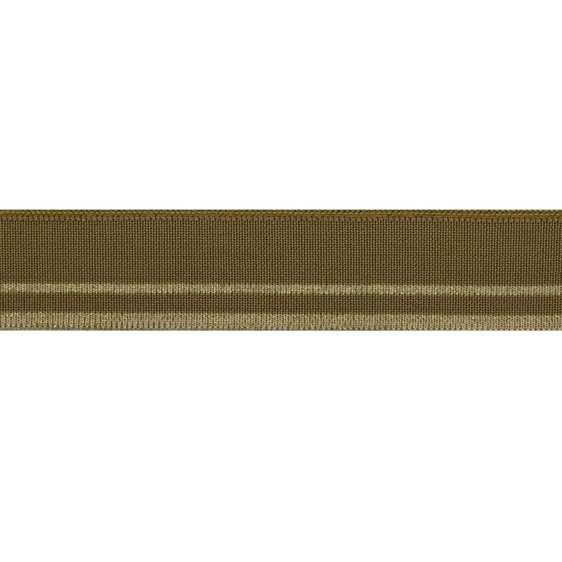 Подвяз полиэстер 3*120см, цв:оливковый/св.зеленый/люрекс бронза