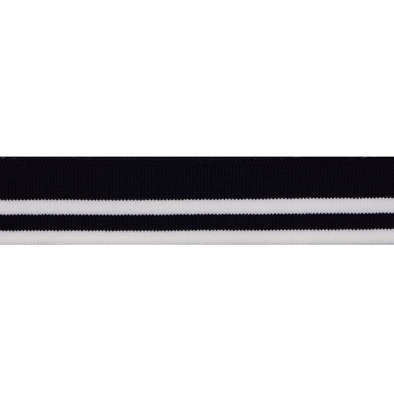 SALE Подвяз полиэстер 3*120см, цв:темно-синий/белый