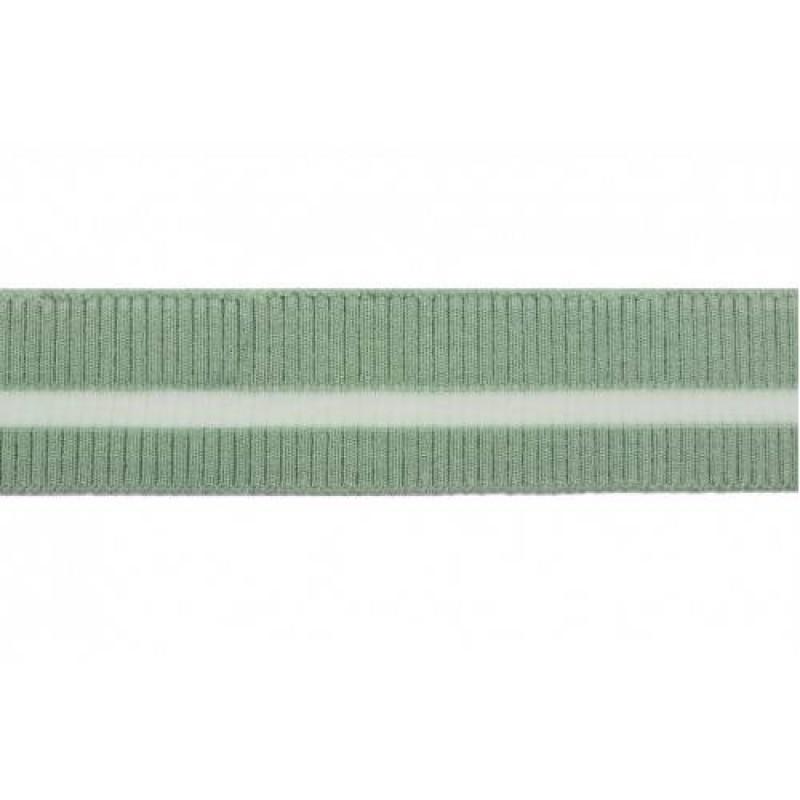 Подвяз вискоза с прозрачной полосой 2*2, 3,8*95см, цв: зеленый