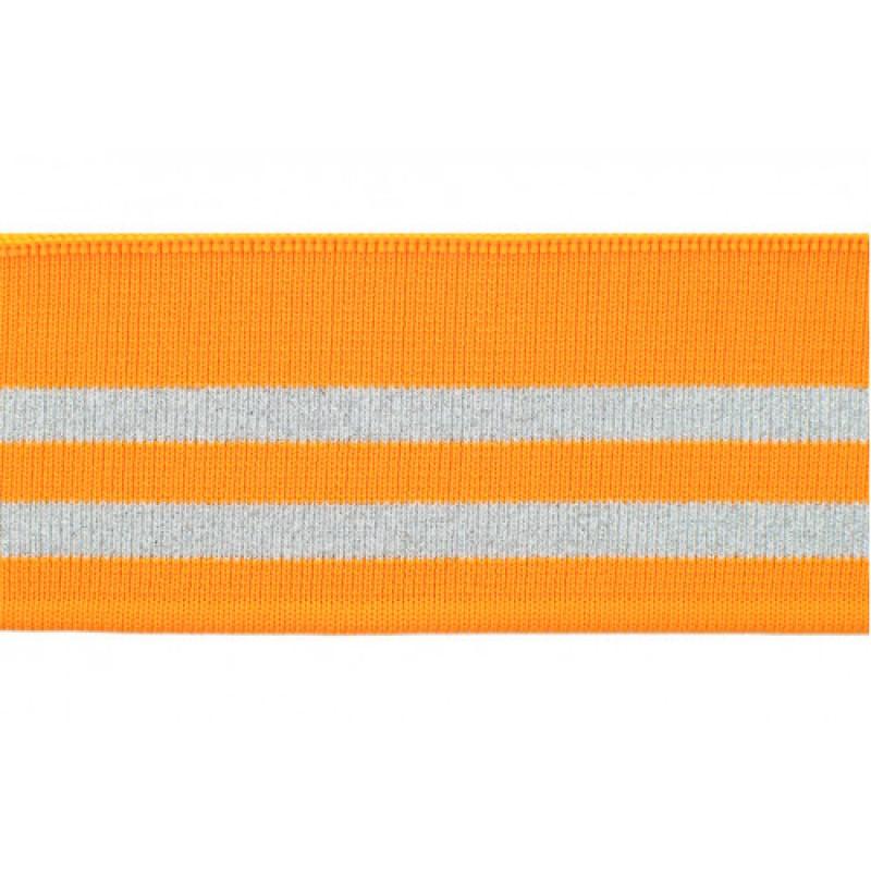 Подвяз трикотажный оранжевый с люрексом