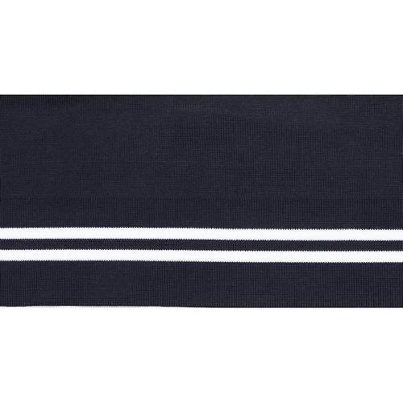 Подвяз полиэстер 12*120см, цв:темно-синий/белый