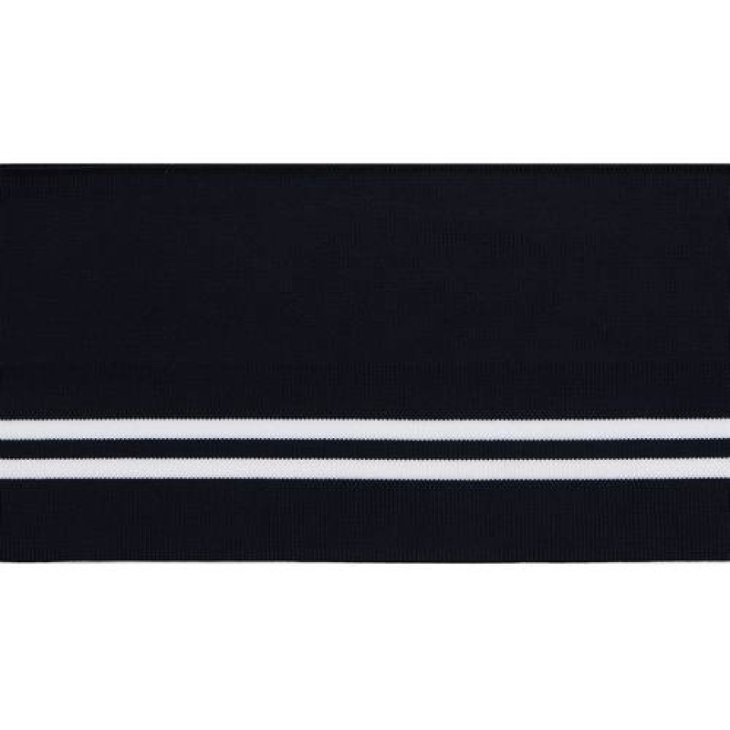 Подвяз полиэстер 12*120см, цв:черный/белый