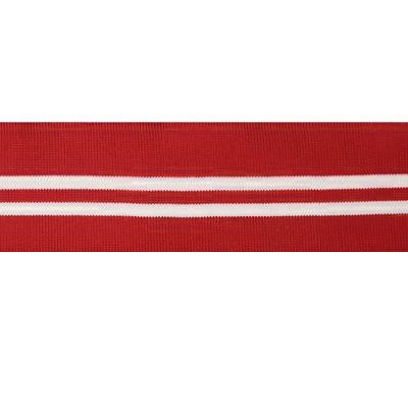 Подвяз полиэстер 6*120см, цв:красный/белый