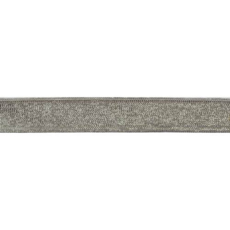 SALE Подвяз 1*1 полиэстер 2*100см, цв: серый/люрекс серебро